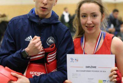Championne de Picardie en boxe educative